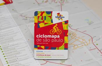 Ciclomapa - São Paulo (SP) - 02.08.2013 - Ciclomapa de São Paulo, com indicações de ciclovias, ciclorrotas e ciclofaixas de lazer e atrações turísticas. Foto: Jose Cordeiro/SPTuris