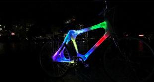 Designers criam quadro de bicicleta impresso em 3D com iluminação interna