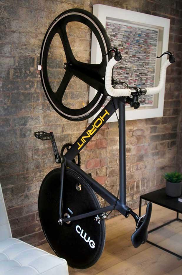 Hornit Clug, o menor suporte de parede para bicicletas do mundo ...